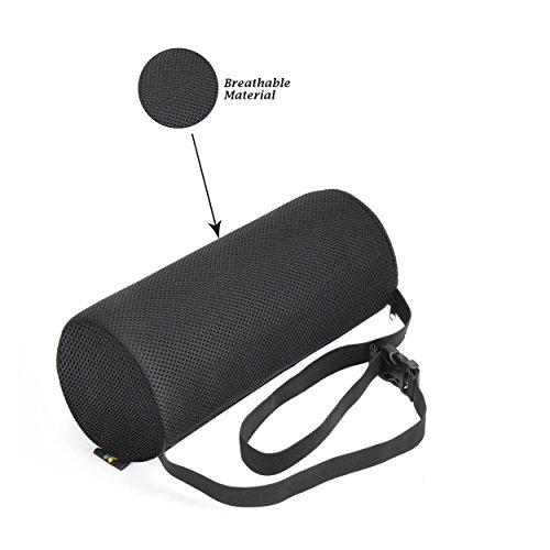 Lumbar Support Roll Pillow With (Standard Density) Cool Ventilation Technology, and Clip to Strap to the Chair, Sciatica and Pain Relief by Viteps