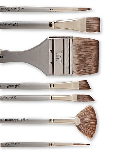 Dynasty Faux Squirrel Brushes 1/2 in. flat