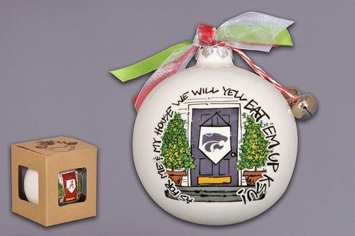 Kansas Holiday Wildcats Ornament State - Magnolia Lane As for Me and My House Holiday Ornament (Kansas State Wildcats)