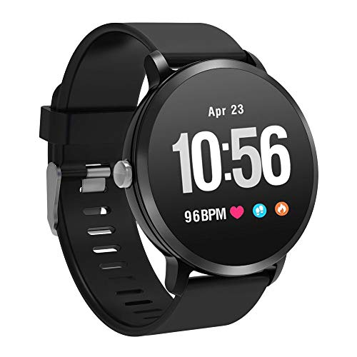 YoYoFit Smart Fitness Watch with Heart Rate Blood Pressure Monitor, Waterproof Fitness Activity Tracker Step Counter with Music Player Control, Customized Face Look GPS Pedometer Watch,Great Gift