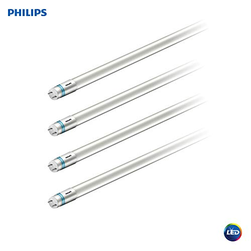 Philips LED UniversalFit 4-Foot T8 Tube Light Bulb 1800-Lumen, 4000-Kelvin, 16 (32-Watt Equivalent), Medium Bi-Pin G13 Base, Cool White, 4 Pack, 544288, 4000 Kelvin, 4 -