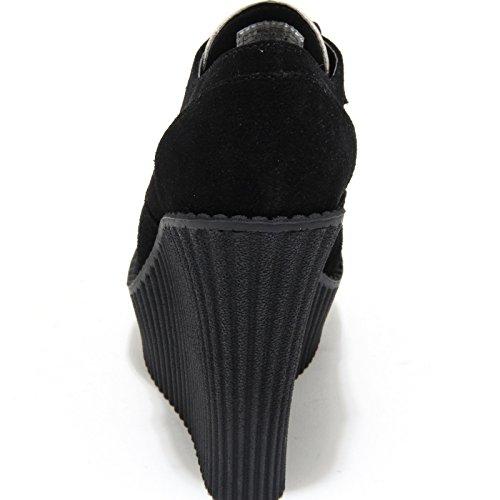 T Scarpe Pelle k 1168m Ecopelle Neri Donna Shoes Nero Women animalier u Tronchetti zxArqgUTwz