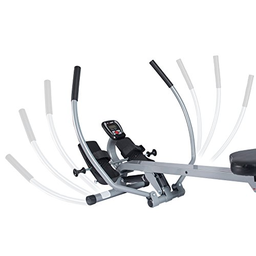 EFITMENT Total Motion Rowing Machine Rower with Full Arm Extensions, 350 lb Weight Capacity and Cell/Tablet Holder - RW032 by EFITMENT (Image #3)