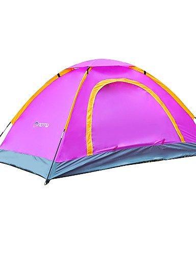 ZQ hören Sie die Windhaube Doppel Beule im Freien Doppeltür Klebe Zelt 2 Strandzelt Zelt at6508