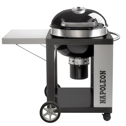 Napoleon NK22CK-C Rodeo Charcoal Kettle Grill with Cart, (Kettle Bar B-que Charcoal Cart)