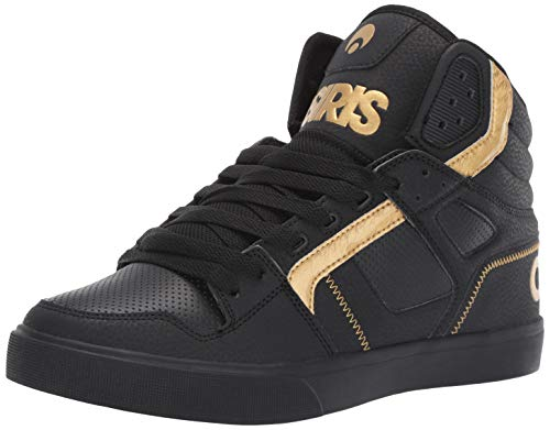 Osiris Men's Clone Skate Shoe, Black/Gold, 10 M US