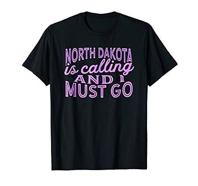 North Dakota Is Calling And I Must Go Shirt (Light Purple)
