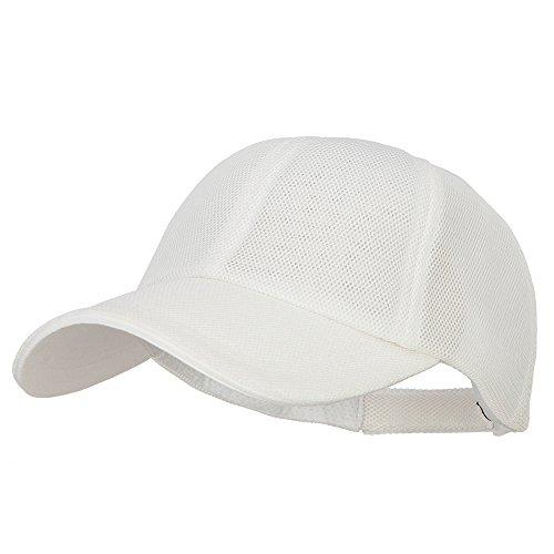 MG Deluxe Performance Mesh Cap - White OSFM