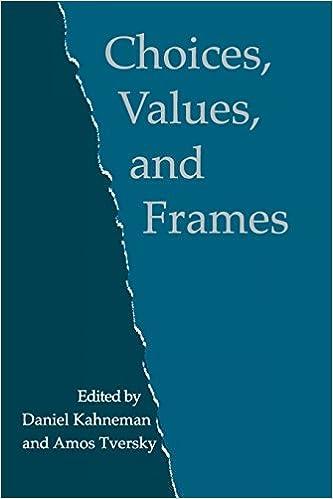 amazon choices values and frames daniel kahneman amos tversky
