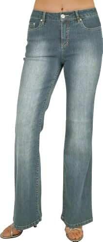 Women's 5 Pocket Flare Stretch Jean Size:3-17 #L58-31