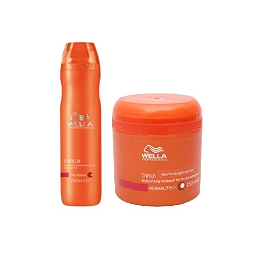 Wella Professional Enrich Moisturizing Shampoo For Dry And Damaged Hair 250 ml + Mask 150 ml Combo Pack