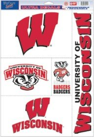 Ultra Decal Ncaa (NCAA Wisconsin Badgers Ultra Decal Sheet, 11