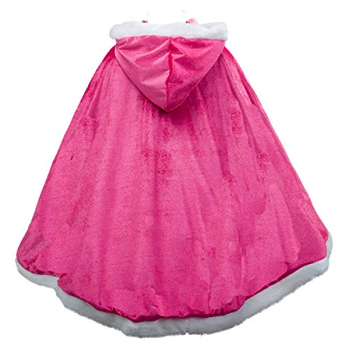 Cape Old (iTvTi Princess Cloak with Hood Girls Cape Kid Toddler Costume Dress up for Halloween Christmas Carnival Cospaly Pink)