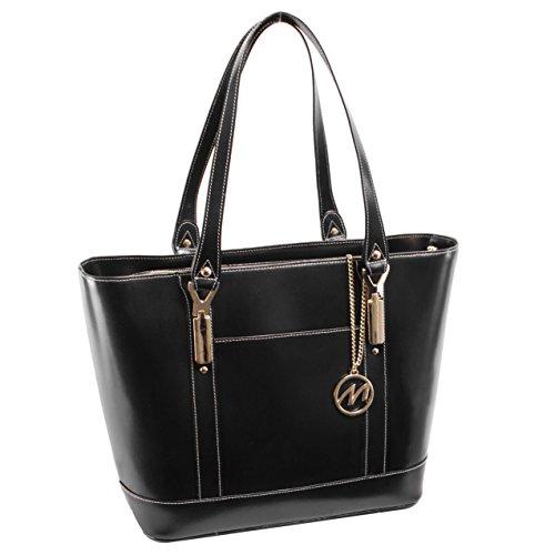 mcklein-usa-arya-leather-ladies-tote-with-tablet-pocket-black-97715