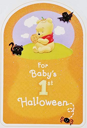 For Baby's 1st Halloween - Winnie The Pooh Greeting Card - First Holiday -
