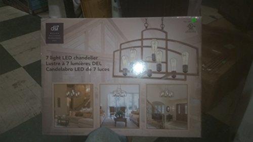 Design Solutions International 7 Edison Light LED Chandelier