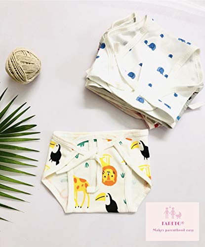 Fareto® New Born Baby 12 Single Layer | Super Soft | Cotton Nappies | Washable | Reusable (0-6 Months)