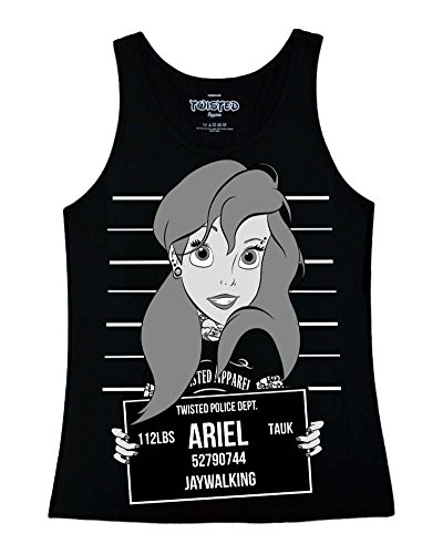 Trenzado Ariel la Sirenita–Mugshot) (negro) de la mujer (S–XL) negro