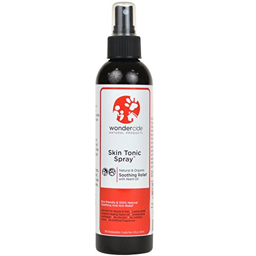 Natural Itchy Dog Relief Spray with Neem Oil and Soothing Organic Essential Oils  8oz Skin Tonic Spray for Dry Itching Skin Hot Spots Bug Bites Ringworm Burns Mites Mange Allergies & More