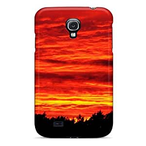 Abrahamcc Snap On Hard Case Cover Orange Fire Protector For Galaxy S4