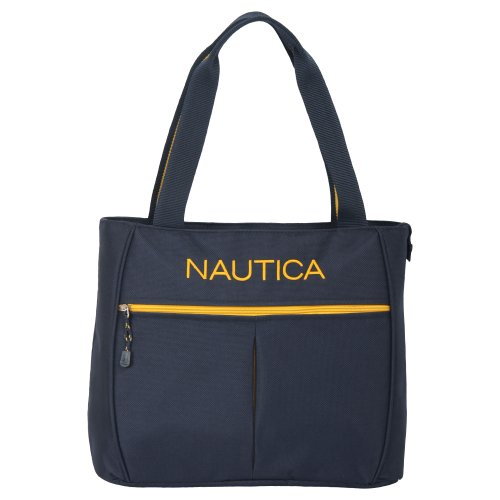Nautica Luggage Helmsman Boat Classic Tote, Navy/Yellow, One Size by Nautica