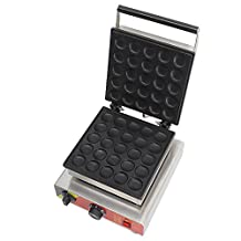 Generic Commercial Use Nonstick Electric 25-cavity Dutch Poffertjes Mini Pancake Machine Maker Iron Baker Grill