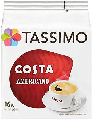 a6e42c9a9f1 TASSIMO Costa Americano Cappuccino Coffee Capsules T-Discs Pack of 5 ...