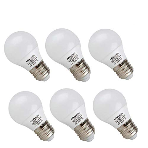 ChiChinLighting 12 Volt 7 Watt LED Light Bulb (6 Bulbs per Pack) - E26/E27 Light Bulb 12v Low Voltage - Daylight White (Cool White) 6000k 7w Light Bulb - Off Grid Solar System, RV, Marine LED Lights