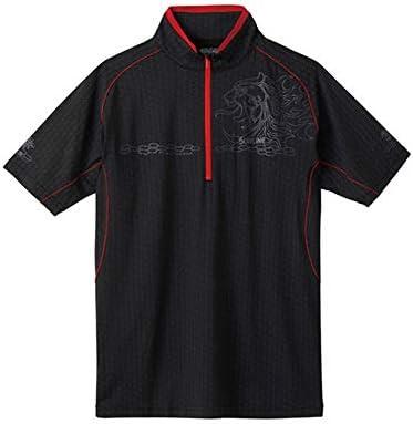 サンライン TERAX COOL DRY シャツ 半袖SUW-5571CW S~LL ブラック