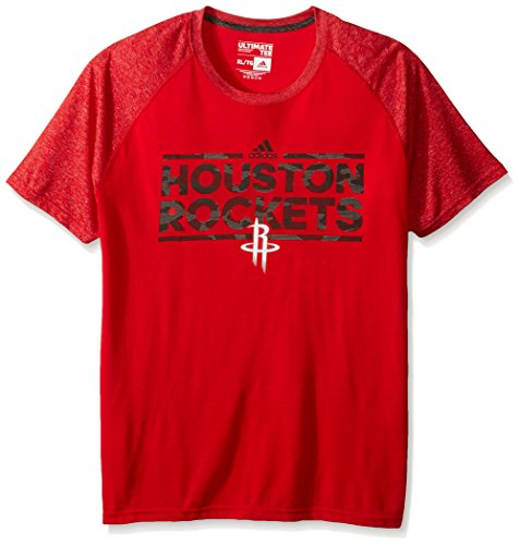 fan products of NBA Houston Rockets Adult Men Dazzler Tactical Climate Ultimate S/Tee, Large, Red
