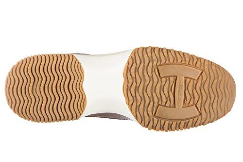 Hogan scarpe sneakers donna in pelle nuove interactive allacciata altraversione
