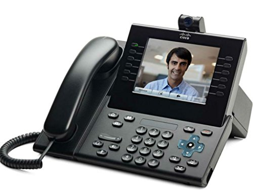 Cisco CP-9951-CL-CAM-K9 Unified IP Endpoint Slimline Handset Phone with Camera Charcoal (Certified (9951 Charcoal)