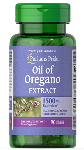 Puritan's Pride Oil of Oregano Extract 1500 mg-90 Softgels