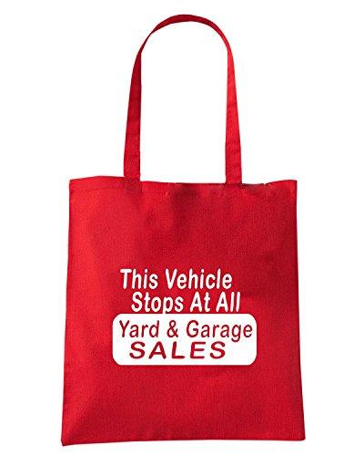 T-Shirtshock - Bolsa para la compra FUN0367 556 yard sales decal 40350 Rojo