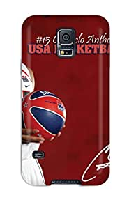 5238489K71940904 Flexible Tpu Back Case Cover For Galaxy S5 - Carmelo Anthony