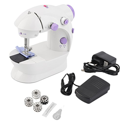Lznlink Mini Sewing Machine With Foot Pedal Multifunction Electric 2-Speed Double Thread Sewing Machine Household