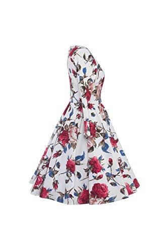 Des années 1940 Vintage 3/4 manches femmes Swing Party Dress