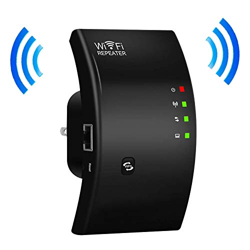 WiFi Range Extender, WiFi Signal Booster, Wireless Repeater | Up to 300Mbps | Internet Range Booster,Access Point | Easy Set-Up | 2.4G Network with LAN Port (Repeater and AP Mode