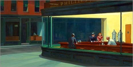 Posterlounge Lienzo 80 x 40 cm: Nighthawks de Edward Hopper - Cuadro Terminado, Cuadro sobre Bastidor, lámina terminada sobre Lienzo auténtico, impresión en Lienzo: Edward Hopper: Amazon.es: Hogar