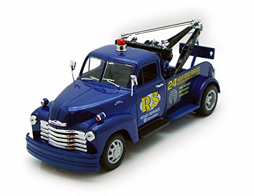 1953 Chevy Tow Truck, Blue - Welly 22086 - 1/24 scale Diecast Model Toy Car (53 Chevy Truck Model compare prices)