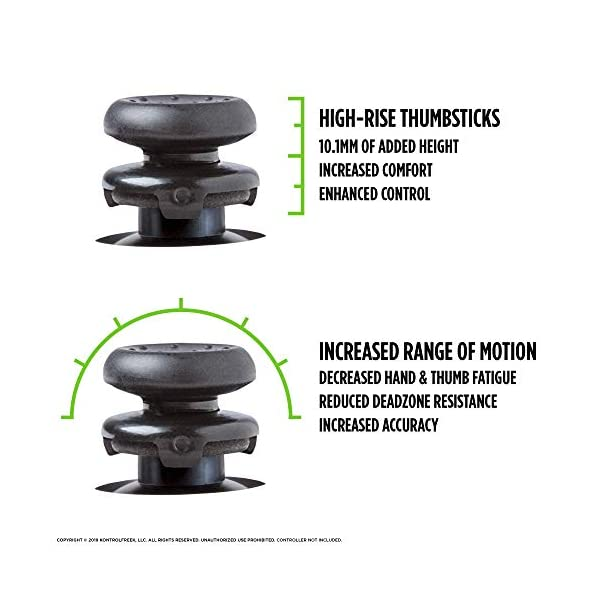 KontrolFreek Ultra for Xbox One and Xbox Series X Controller | Performance Thumbsticks | 2 High-Rise Concave | Black 3
