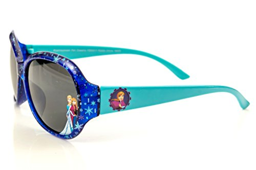 Disney Frozen Girl's Sunglasses Snowflakes Design in Blue and - Disney Sunglass