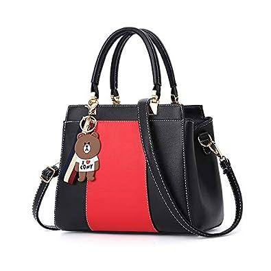 Elegant Dual Color PU Leather Pretty Womens Ladies Designer Shoulder Hand Bag  Handbags Handbags For Womens Women s Ladies Purses Shoulder Bags Designer  Tote ... 43becb1903
