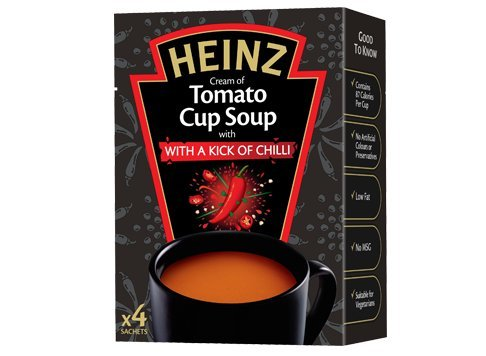 Best Tomato Soup - Original Heinz Cream of Tomato Cup Soup with a Kick of Chilli Imported From The UK England The Best Of British Soup Instant Tomato With Chilli Soup
