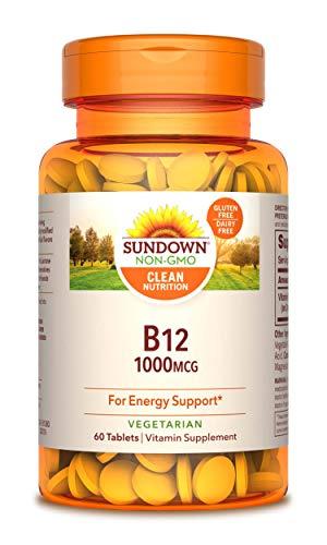 Sundown Vitamin B-12 High Potency 1000 mcg, 60 Tablets (Pack of 3)