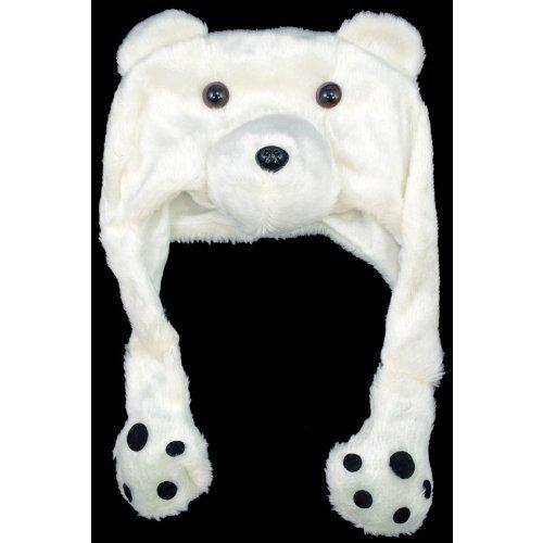 Plush Polar Bear Hat (Polar Bear Plunge Costumes)