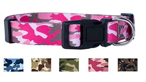 Native Pup Camo Dog Collar (Large, Pink)