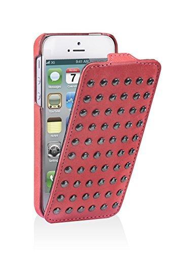 Decoded Schlagfall mit Nieten für Apple iPhone 4S pink