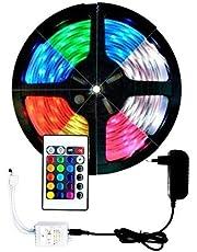 FITA LED RGB 5050 5M IP65 COM CONTROLE E FONTE