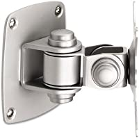 Low Profile Wall Mount for Flat Panel Monitor, Silver, Sold as 2 Each